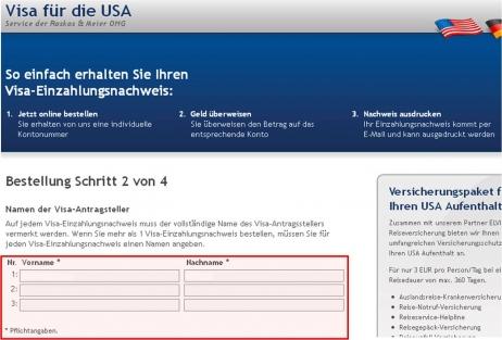 Neue Regelung bei den Zahlungsbelegen für Visa-Antragsgebühren