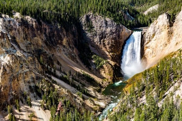 Wasserfall im Yellowstone Nationalpark